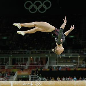 Ellie Black competing in All Around finals in Rio